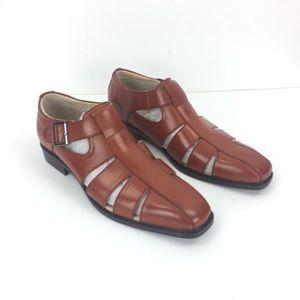 Stacy Adams Fisherman's Sandals Men's 9.5 cognac
